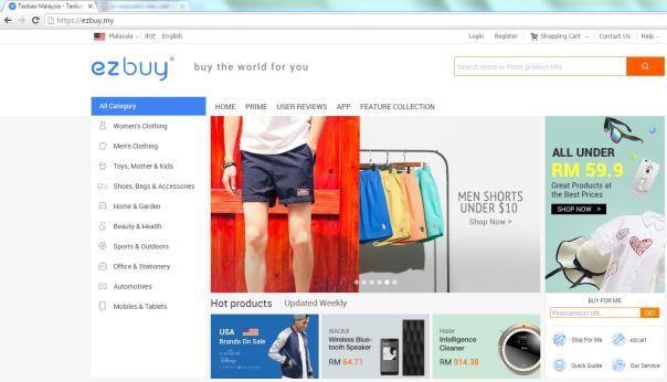 Ezbuy website